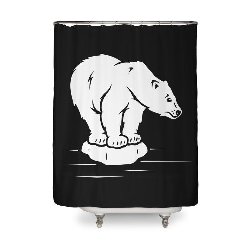 Save the Polar Bears, Isolated Polar Bear on Slab of Ice Home Shower Curtain by frippdesign's Artist Shop