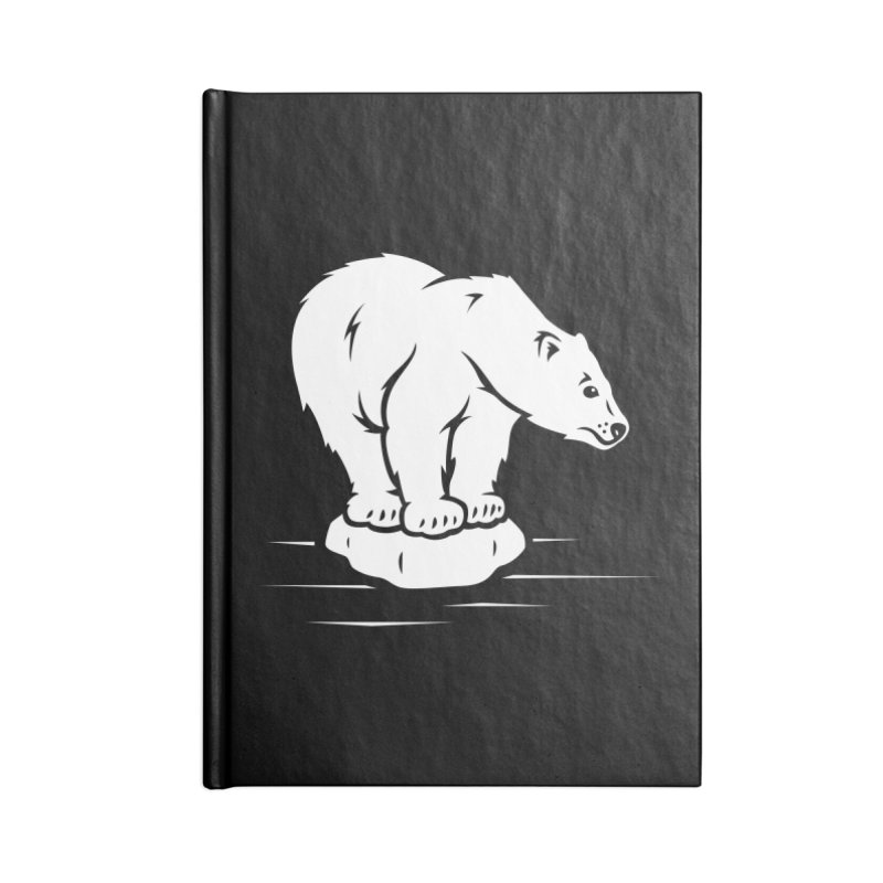 Save the Polar Bears, Isolated Polar Bear on Slab of Ice Accessories Notebook by frippdesign's Artist Shop