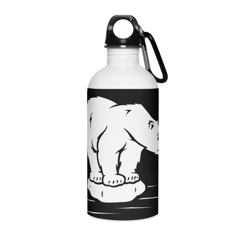 Save the Polar Bears, Isolated Polar Bear on Slab of Ice Accessories Water Bottle by frippdesign's Artist Shop