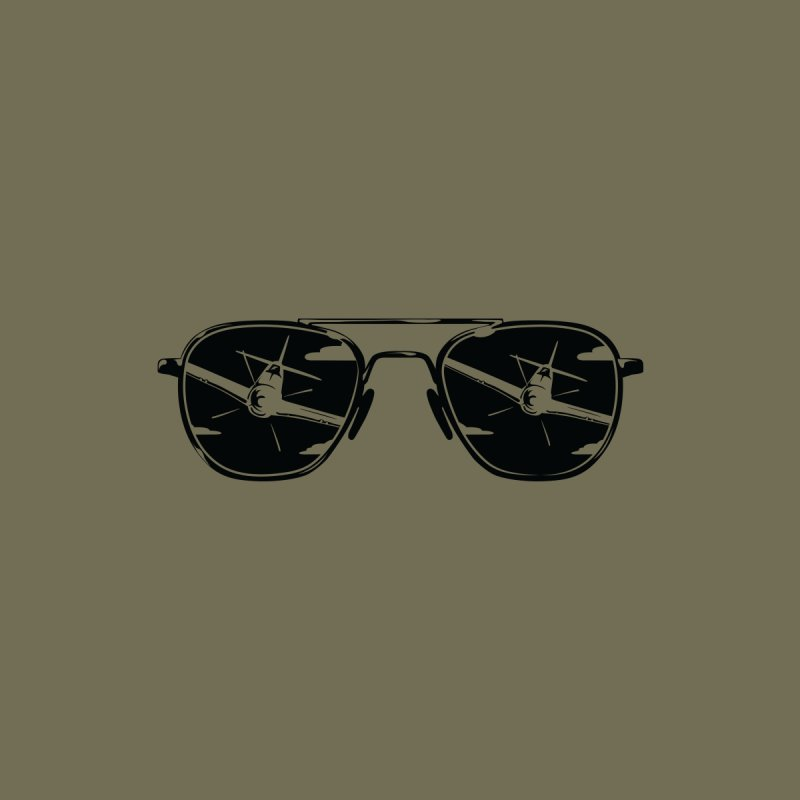 Aviators P-51 Fighter Plane Attack Reflection in Sunglasses by frippdesign's Artist Shop