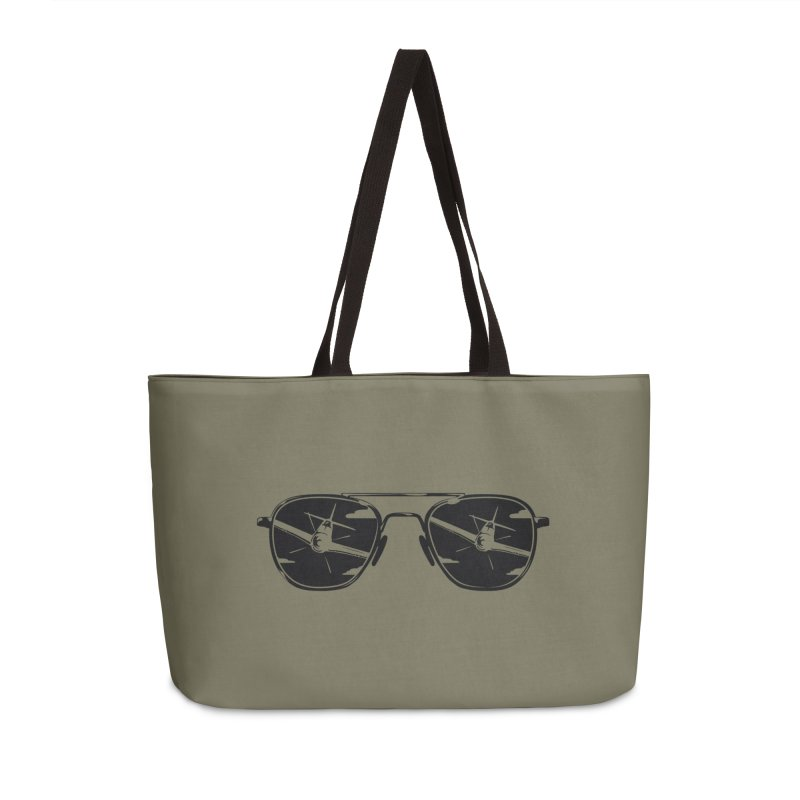 Aviators P-51 Fighter Plane Attack Reflection in Sunglasses Accessories Bag by frippdesign's Artist Shop