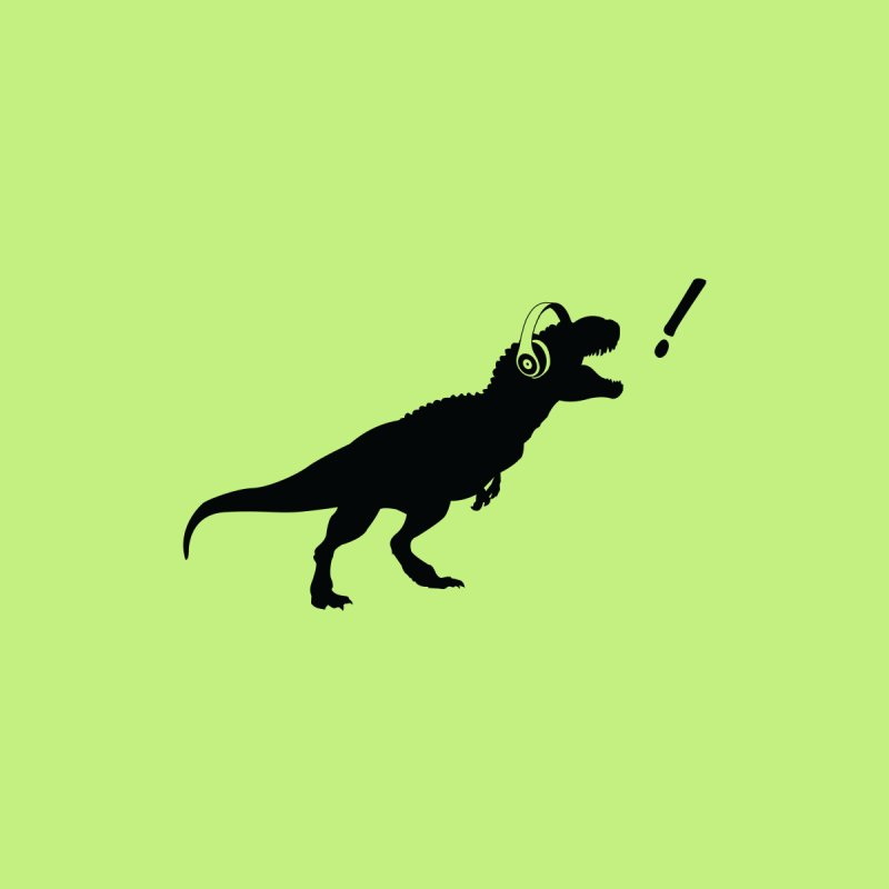 T-Rex Dinosaur with Headphones Shirt. Tyrannosaurs Rex Music DJ. by frippdesign's Artist Shop