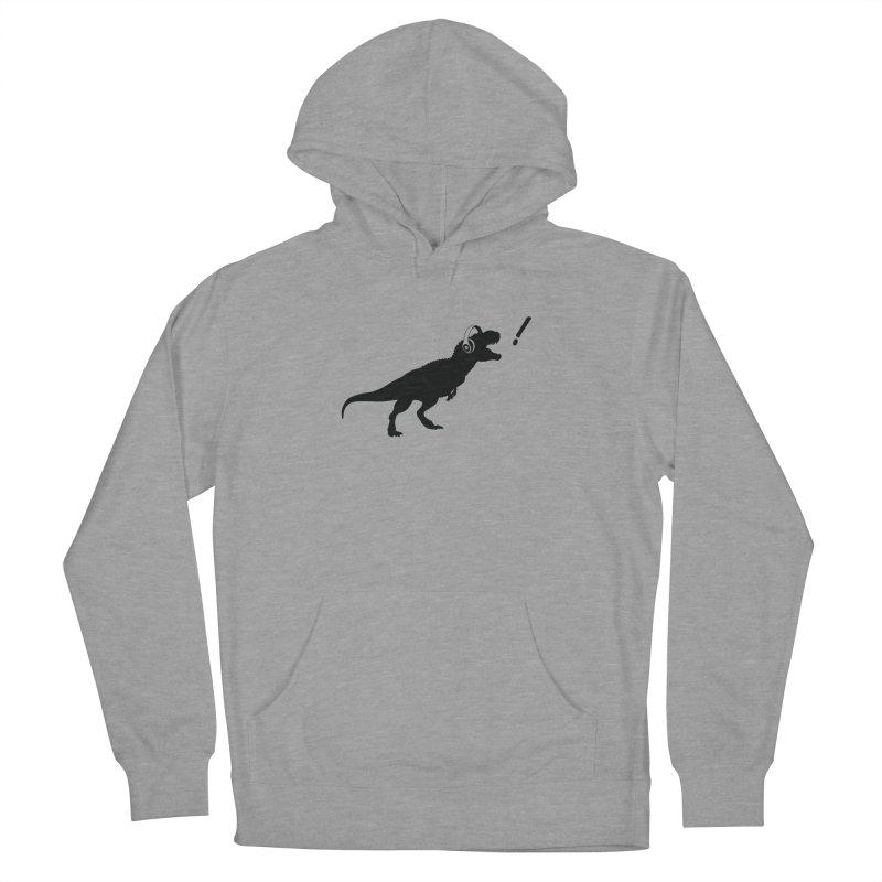 T-Rex Dinosaur with Headphones Shirt. Tyrannosaurs Rex Music DJ. Men's Pullover Hoody by frippdesign's Artist Shop