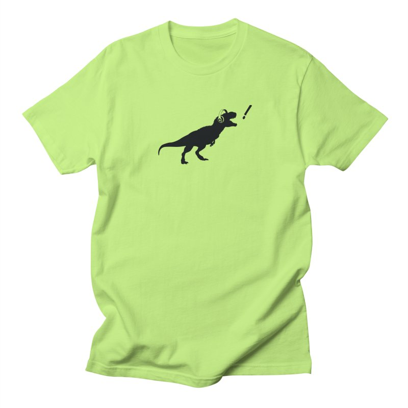 T-Rex Dinosaur with Headphones Shirt. Tyrannosaurs Rex Music DJ. Men's T-Shirt by frippdesign's Artist Shop