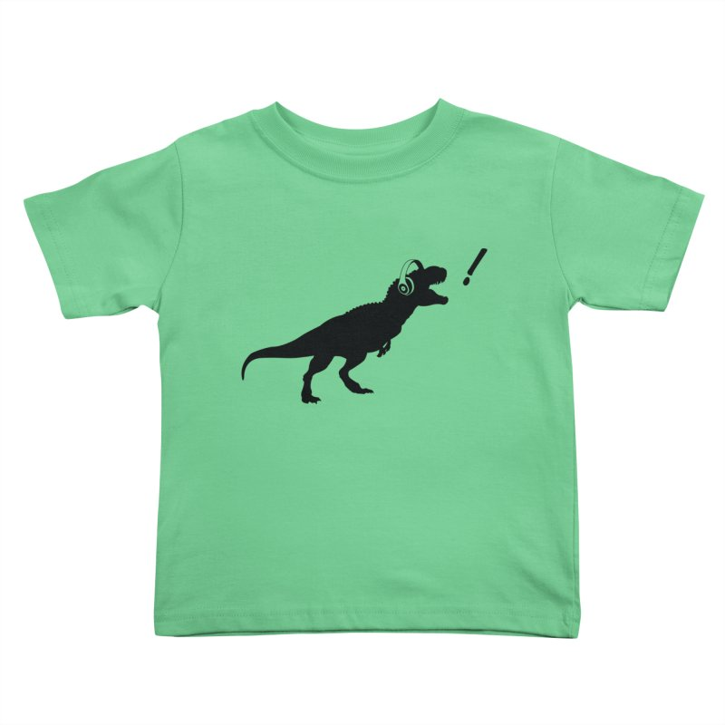 T-Rex Dinosaur with Headphones Shirt. Tyrannosaurs Rex Music DJ. Kids Toddler T-Shirt by frippdesign's Artist Shop