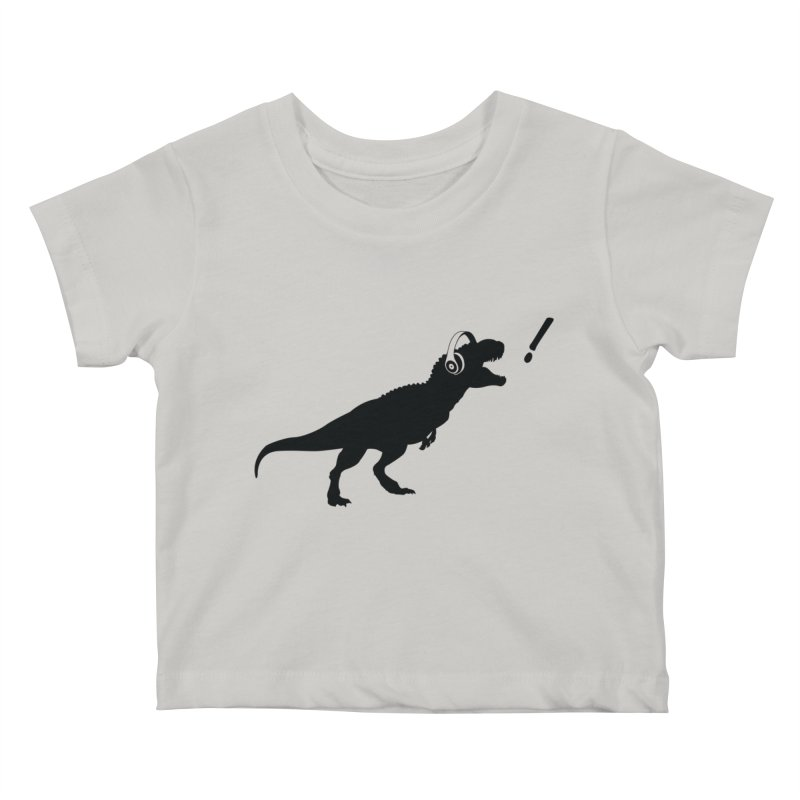 T-Rex Dinosaur with Headphones Shirt. Tyrannosaurs Rex Music DJ. Kids Baby T-Shirt by frippdesign's Artist Shop