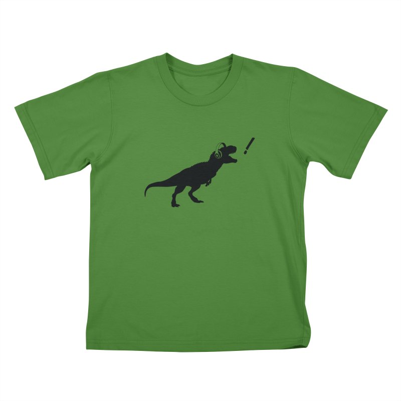 T-Rex Dinosaur with Headphones Shirt. Tyrannosaurs Rex Music DJ. Kids T-Shirt by frippdesign's Artist Shop