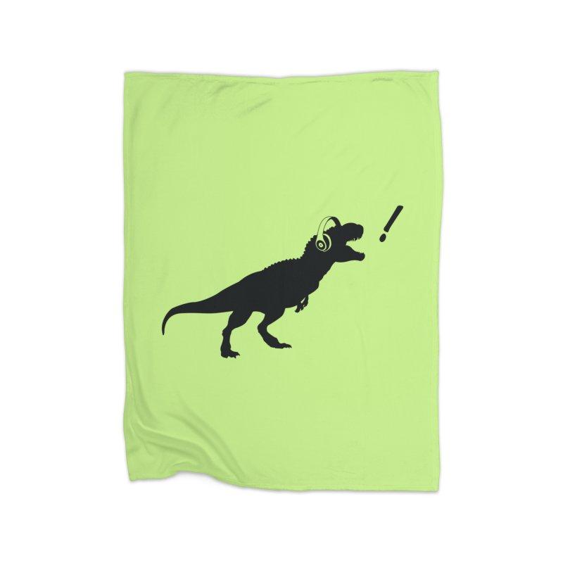 T-Rex Dinosaur with Headphones Shirt. Tyrannosaurs Rex Music DJ. Home Throw Pillow by frippdesign's Artist Shop