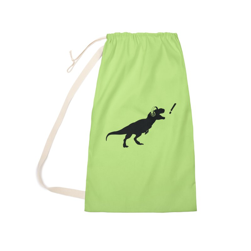 T-Rex Dinosaur with Headphones Shirt. Tyrannosaurs Rex Music DJ. Accessories Bag by frippdesign's Artist Shop