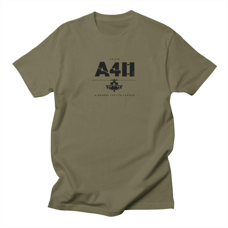Apache AH-64F Helicopter Tactical Assault Pilot Men's T-Shirt by frippdesign's Artist Shop