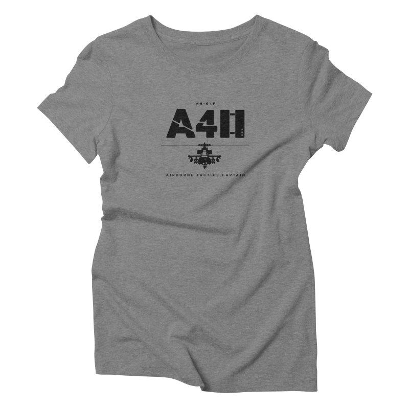 Apache AH-64F Helicopter Tactical Assault Pilot Women's Triblend T-Shirt by frippdesign's Artist Shop