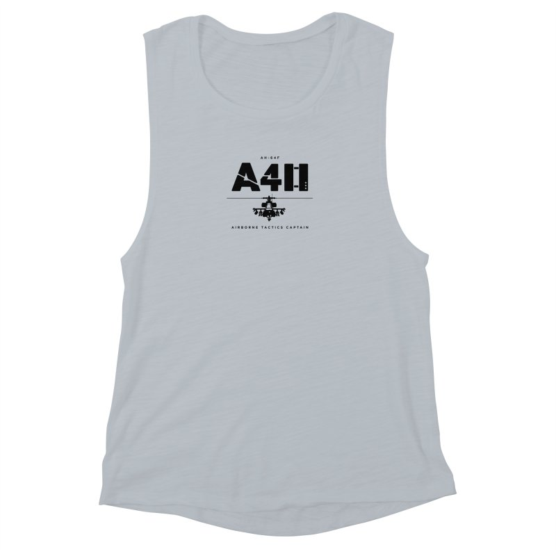 Apache AH-64F Helicopter Tactical Assault Pilot Women's Muscle Tank by frippdesign's Artist Shop