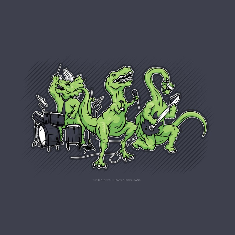 "Dinosaur Music Illustration ""D-Stones Jurassic Rock Band"" by frippdesign's Artist Shop"