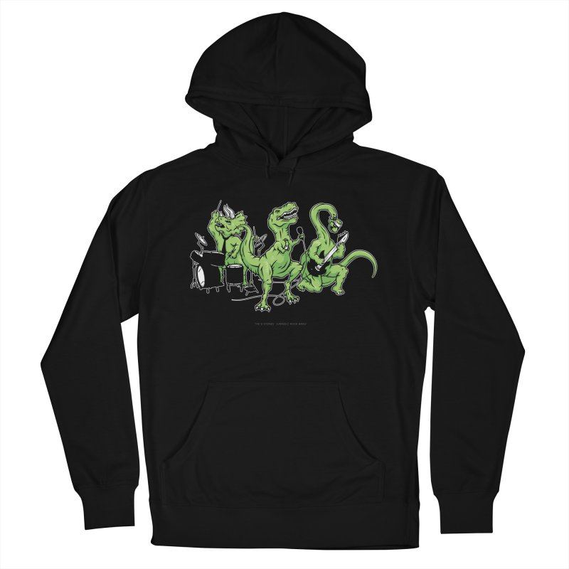 "Dinosaur Music Illustration ""D-Stones Jurassic Rock Band"" Men's Pullover Hoody by frippdesign's Artist Shop"
