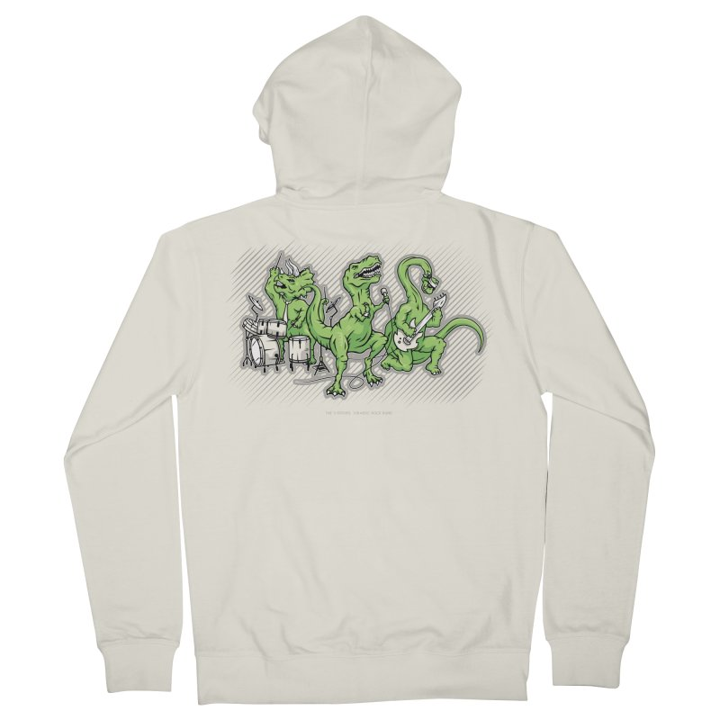 "Dinosaur Music Illustration ""D-Stones Jurassic Rock Band"" Women's Zip-Up Hoody by frippdesign's Artist Shop"