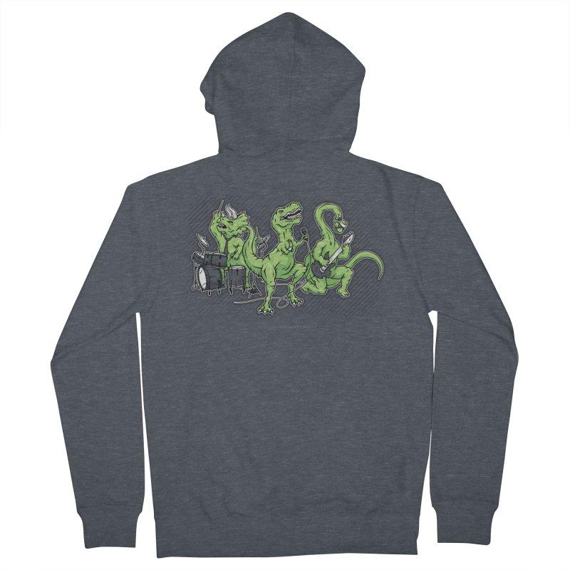 "Dinosaur Music Illustration ""D-Stones Jurassic Rock Band"" Men's Zip-Up Hoody by frippdesign's Artist Shop"