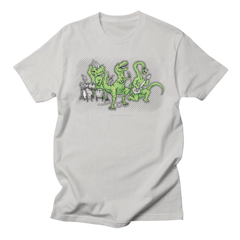 "Dinosaur Music Illustration ""D-Stones Jurassic Rock Band"" Men's T-Shirt by frippdesign's Artist Shop"