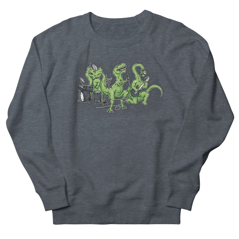 "Dinosaur Music Illustration ""D-Stones Jurassic Rock Band"" Women's Sweatshirt by frippdesign's Artist Shop"