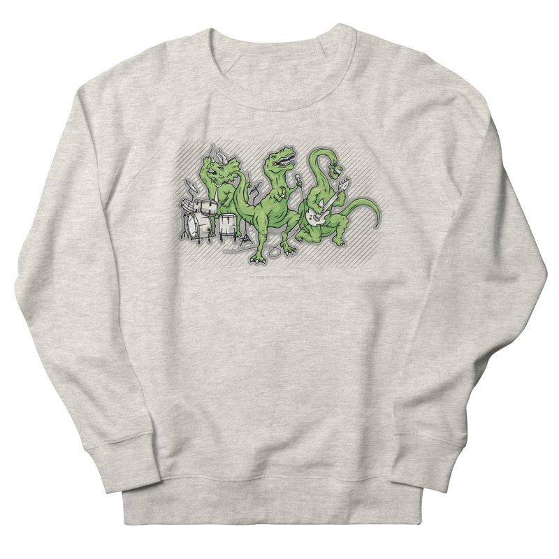 "Dinosaur Music Illustration ""D-Stones Jurassic Rock Band"" Women's Sweatshirt by frippdesign's Artist Shop"