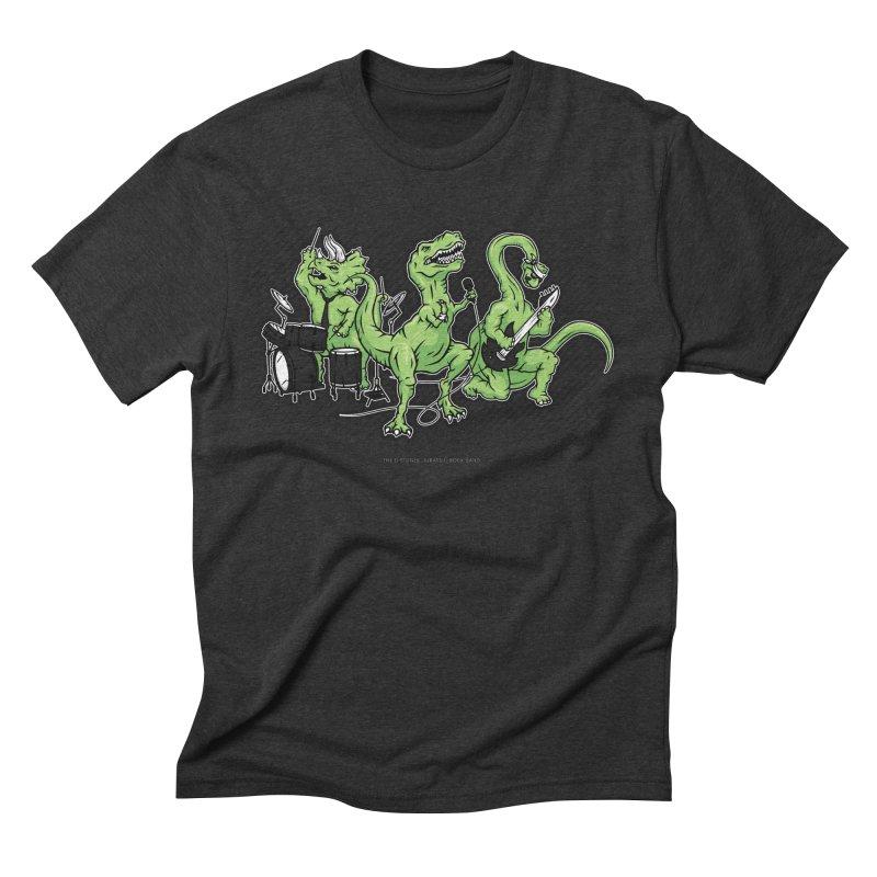 "Dinosaur Music Illustration ""D-Stones Jurassic Rock Band"" Men's Triblend T-shirt by frippdesign's Artist Shop"