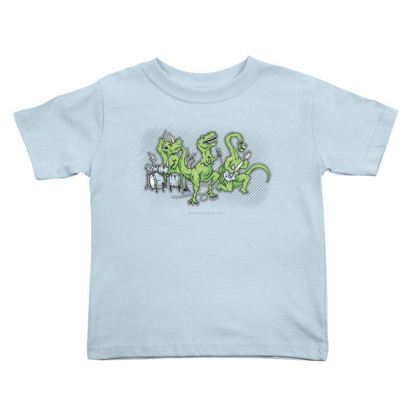 "Dinosaur Music Illustration ""D-Stones Jurassic Rock Band"" Kids Toddler T-Shirt by frippdesign's Artist Shop"