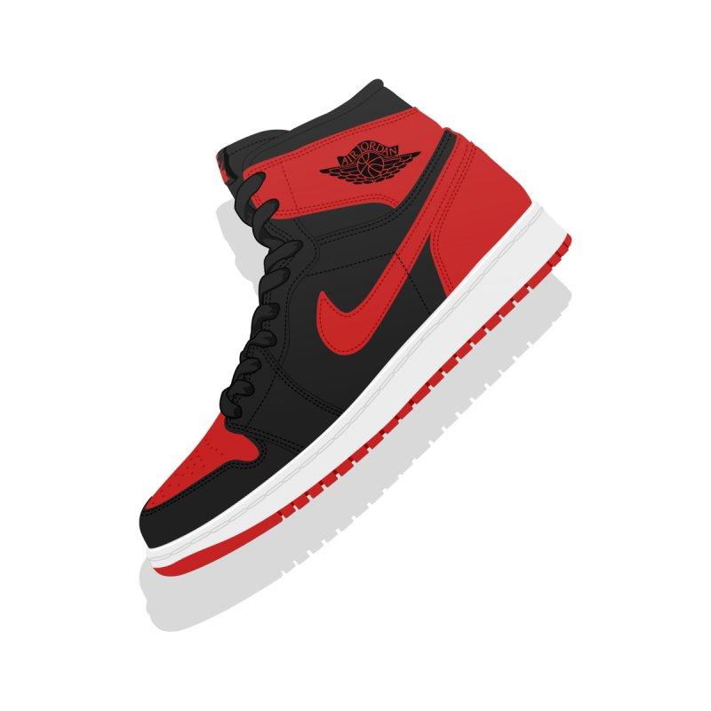 "Air Jordan 1 ""Banned"" Illustration, Vintage Kicks Sneaker Art by frippdesign's Artist Shop"