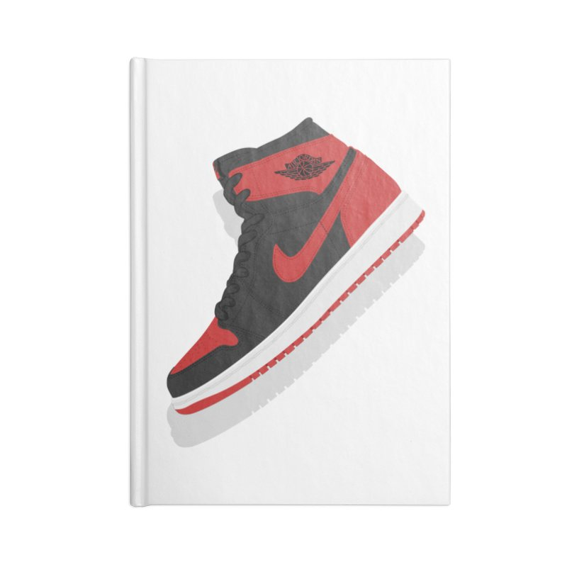 "Air Jordan 1 ""Banned"" Illustration, Vintage Kicks Sneaker Art Accessories Notebook by frippdesign's Artist Shop"