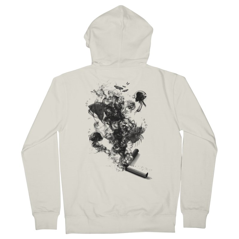 BREAKING THE HABIT Men's French Terry Zip-Up Hoody by frogafro's Artist Shop