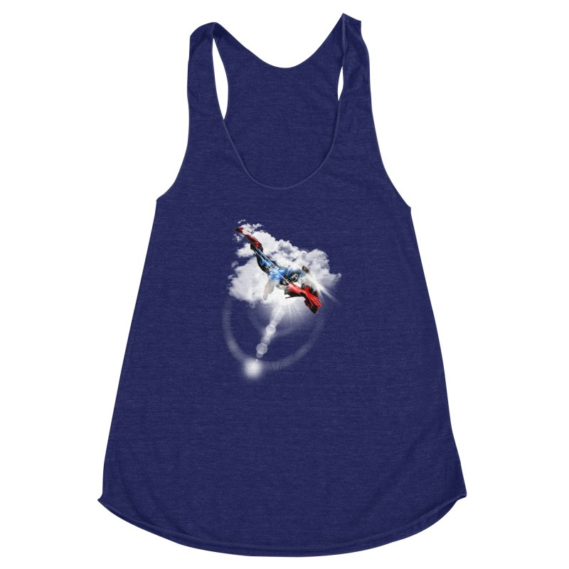 ENDER WILL SAVE US ALL Women's Racerback Triblend Tank by frogafro's Artist Shop