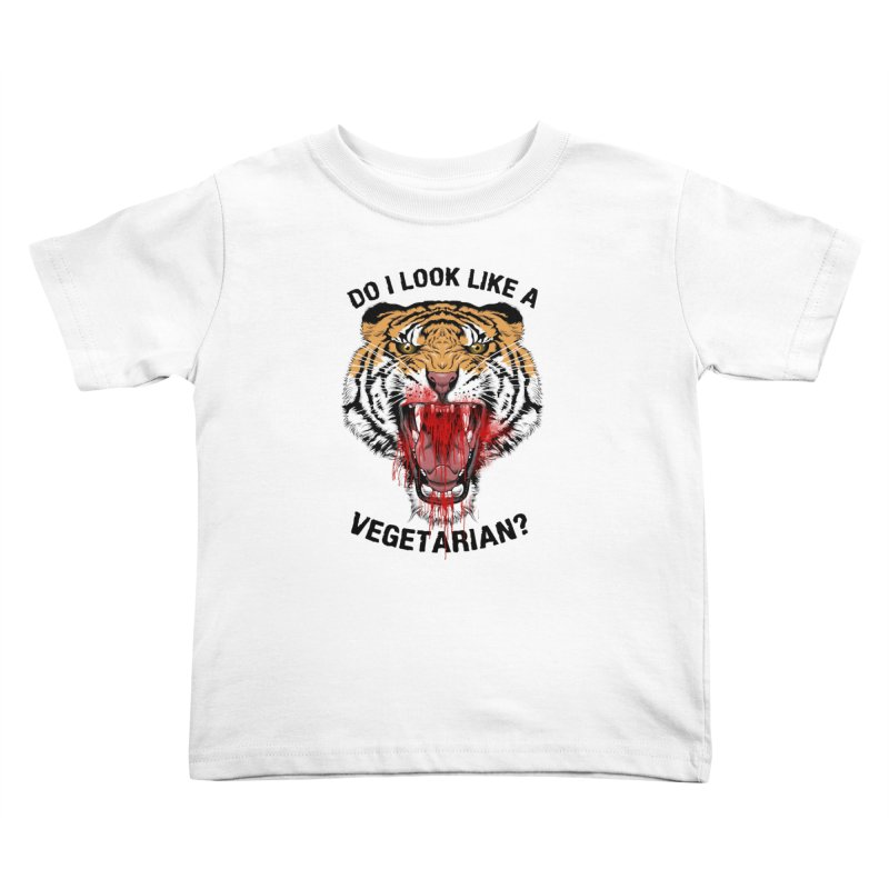 DO I LOOK LIKE A VEGETARIAN? Kids Toddler T-Shirt by frogafro's Artist Shop