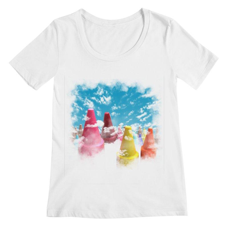 DREAM ON Women's Scoopneck by frogafro's Artist Shop
