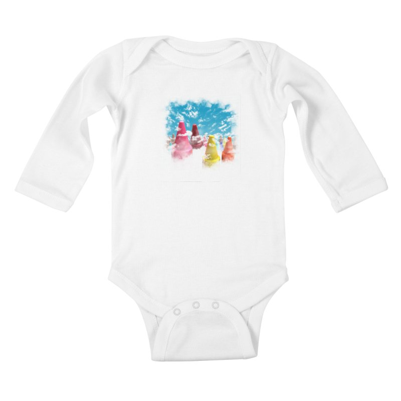 DREAM ON Kids Baby Longsleeve Bodysuit by frogafro's Artist Shop