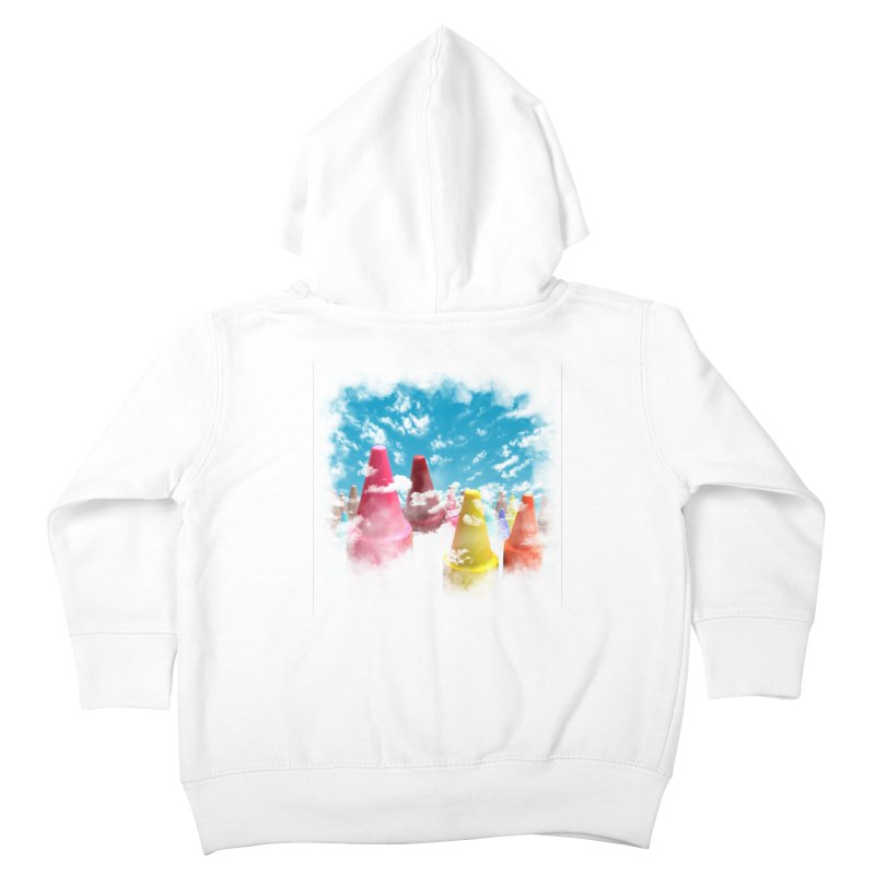 DREAM ON Kids Toddler Zip-Up Hoody by frogafro's Artist Shop