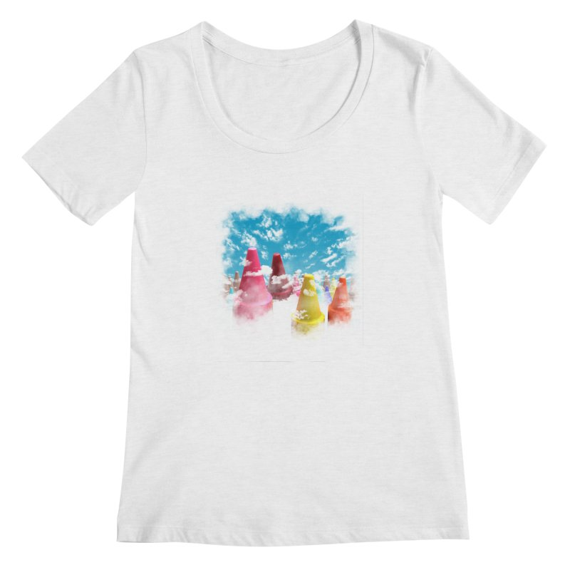 DREAM ON Women's Scoopneck by frogafro's Artist Shop
