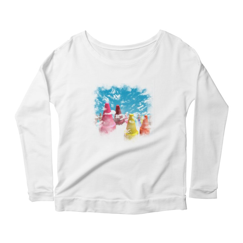 DREAM ON Women's Scoop Neck Longsleeve T-Shirt by frogafro's Artist Shop