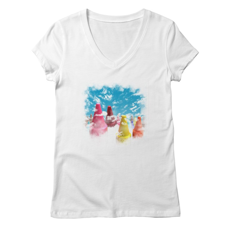 DREAM ON Women's V-Neck by frogafro's Artist Shop