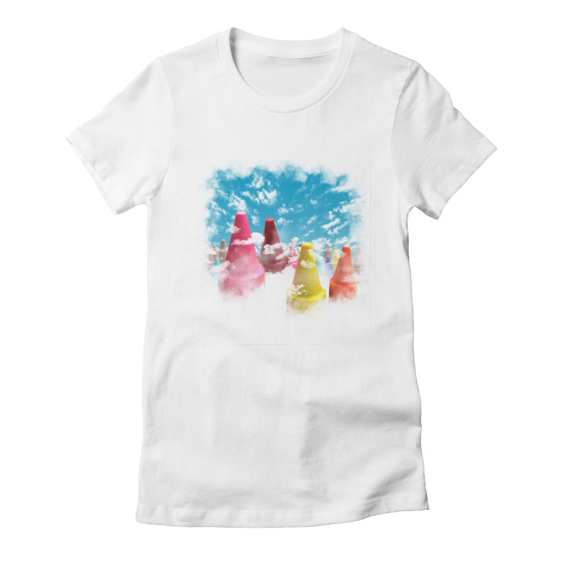 DREAM ON Women's Fitted T-Shirt by frogafro's Artist Shop
