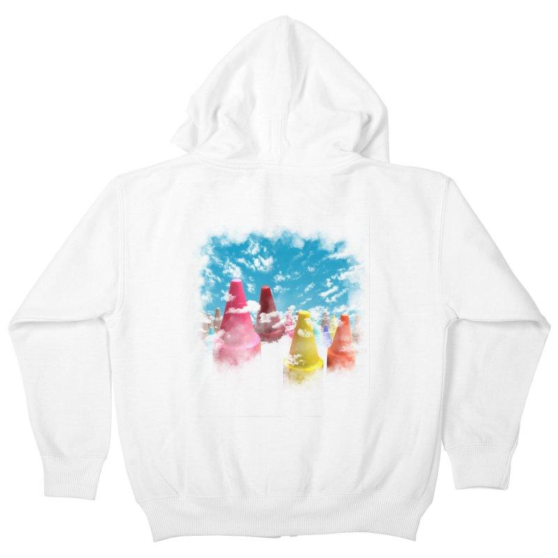 DREAM ON Kids Zip-Up Hoody by frogafro's Artist Shop