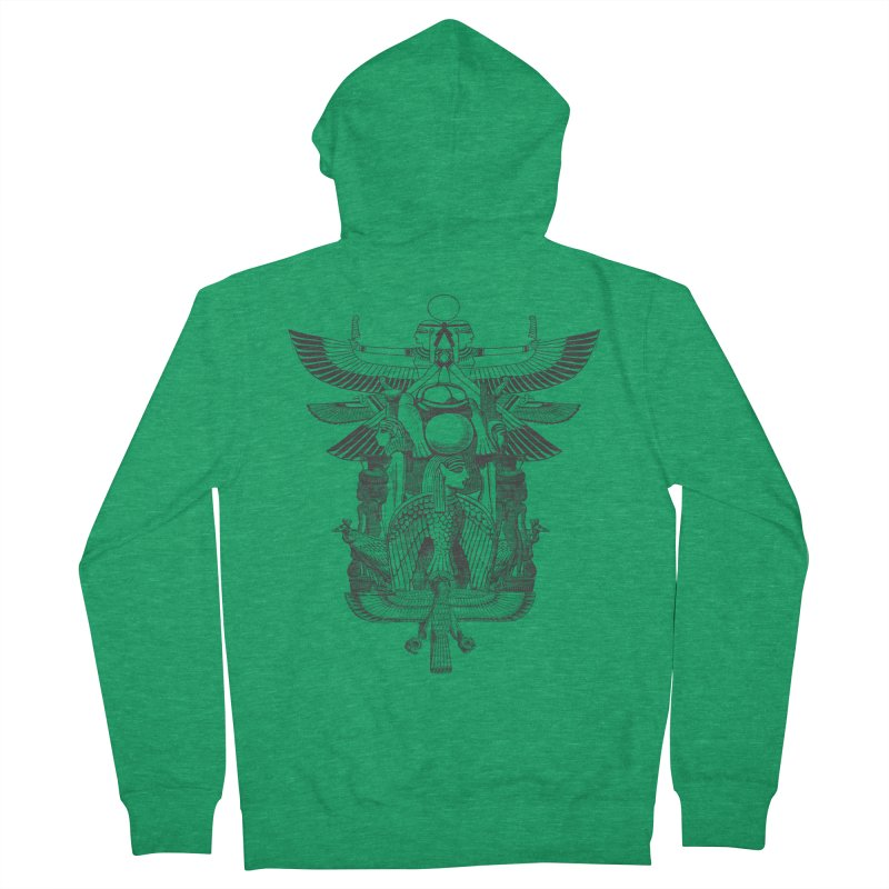 UNIFIED KINGDOM Women's French Terry Zip-Up Hoody by frogafro's Artist Shop