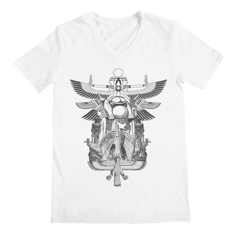 UNIFIED KINGDOM Men's V-Neck by frogafro's Artist Shop