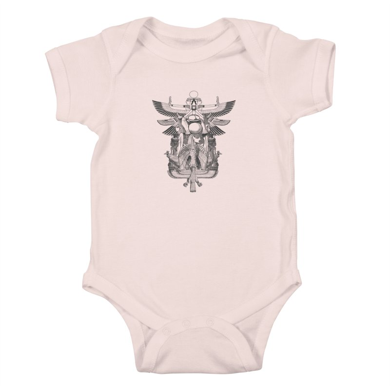 UNIFIED KINGDOM Kids Baby Bodysuit by frogafro's Artist Shop