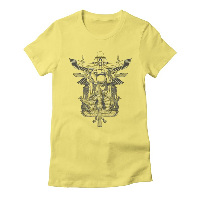 UNIFIED KINGDOM Women's Fitted T-Shirt by frogafro's Artist Shop