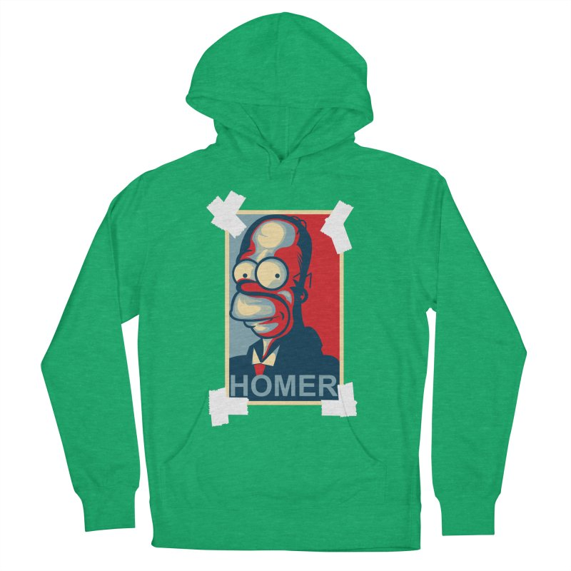 HOMER Men's French Terry Pullover Hoody by frogafro's Artist Shop
