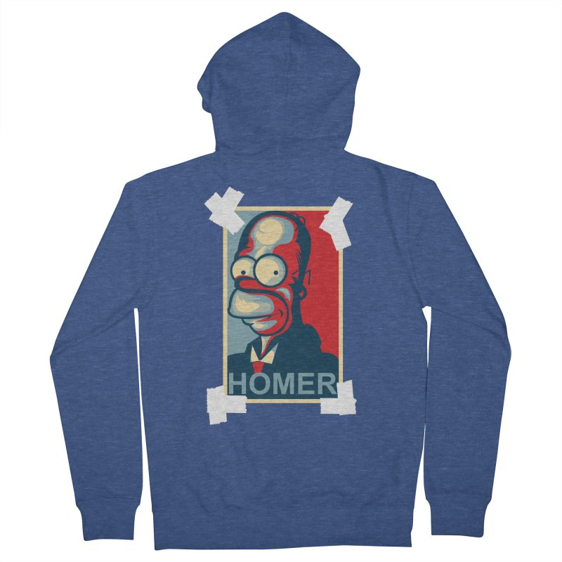 HOMER Women's French Terry Zip-Up Hoody by frogafro's Artist Shop