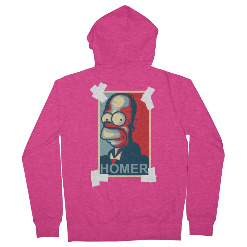 HOMER Women's Zip-Up Hoody by frogafro's Artist Shop