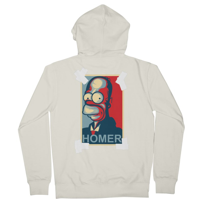 HOMER Men's French Terry Zip-Up Hoody by frogafro's Artist Shop