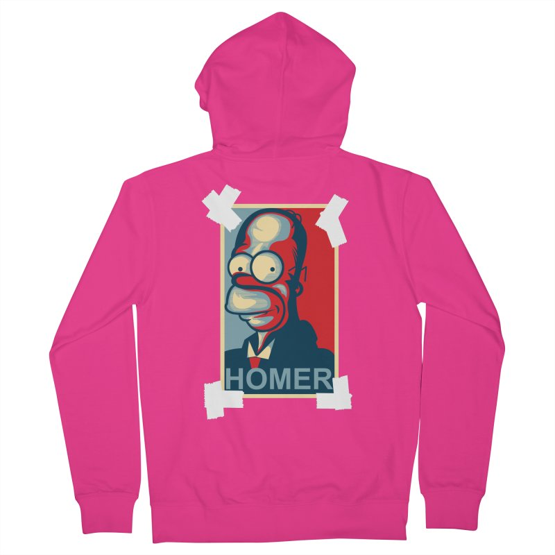 HOMER Men's Zip-Up Hoody by frogafro's Artist Shop