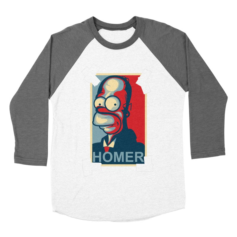 HOMER Women's Baseball Triblend Longsleeve T-Shirt by frogafro's Artist Shop
