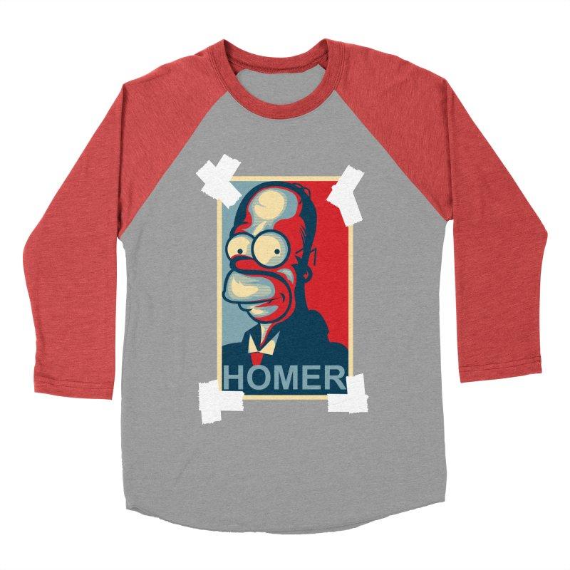 HOMER Women's Baseball Triblend Longsleeve T-Shirt by frogafro's Artist Shop