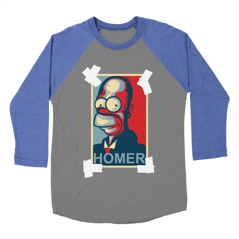 HOMER Men's Baseball Triblend Longsleeve T-Shirt by frogafro's Artist Shop